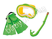 Intex Набор (маска, трубка, ласты(размер M, регулир.ремешок), от 8 лет, в сетке