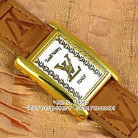 Женские наручные часы Louis Vuitton Quartz Brown Gold White качественная копия, фото 1
