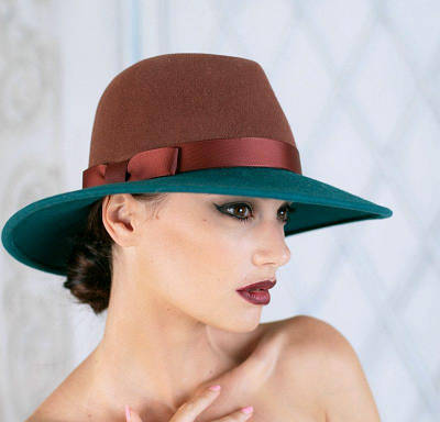 318-1 Женская фетровая шляпа Хелен Лайн