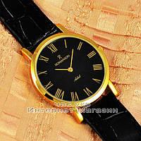 Наручные часы Romanson Adel Quartz Gold Black Roma мужские и женские унисекс кварцевые часики реплика