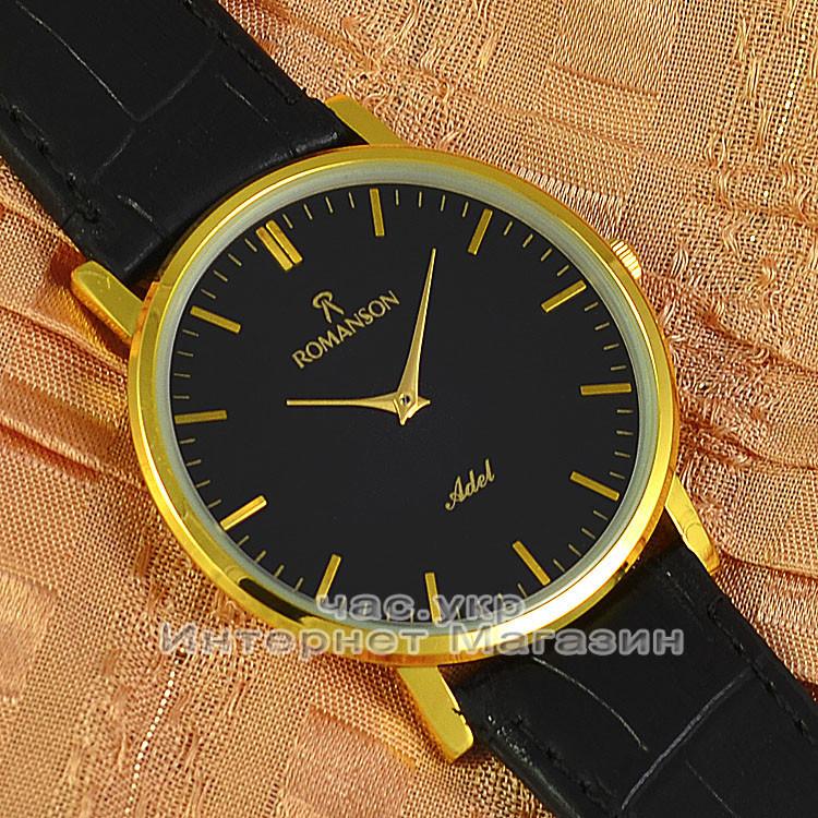 Наручные часы Romanson Adel Quartz Gold Black мужские и женские унисекс  кварцевые часики реплика 0233d291176