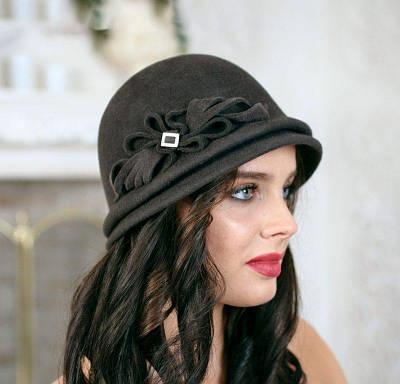 325-1 Женская фетровая шляпа Хелен Лайн