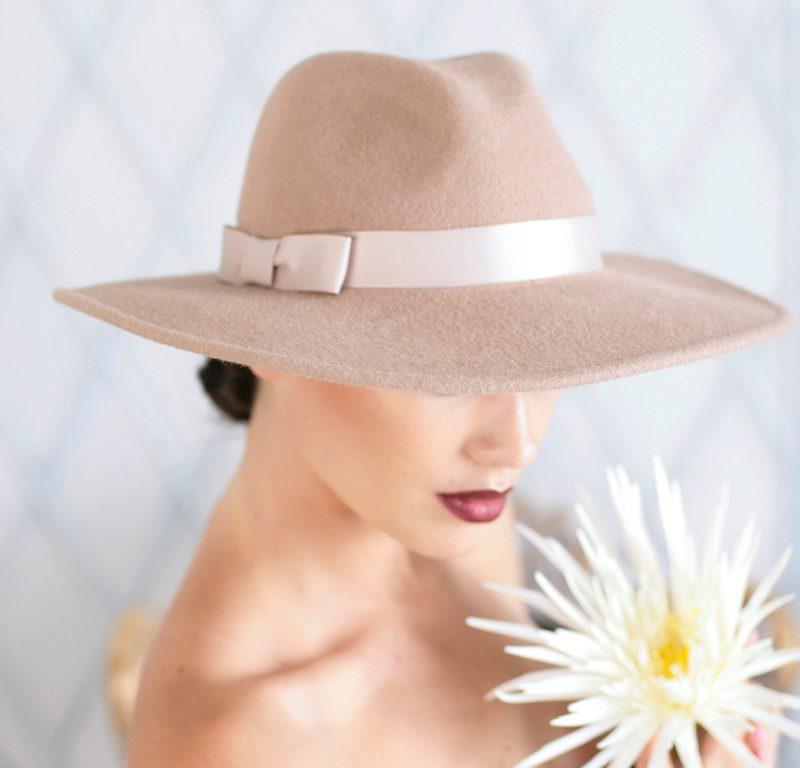 326-1 Женская фетровая шляпа Хелен Лайн