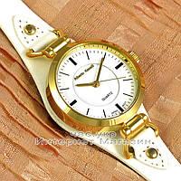Женские наручные часы Alberto Kavalli Quartz White Gold классические кожаный ремешок качественная реплика, фото 1