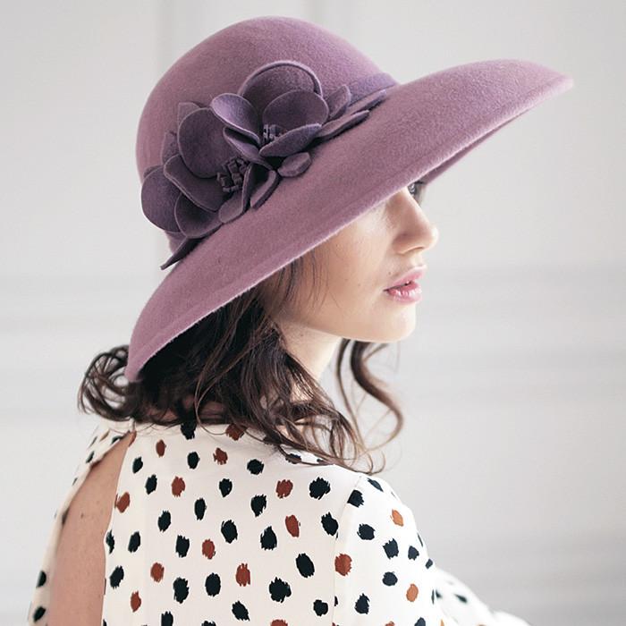 330-1 Женская фетровая шляпа Хелен Лайн