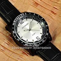 Мужские наручные часы BvLgari Quartz Silver White Булгари кварцевые люкс реплика, фото 1