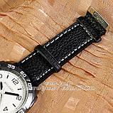 Чоловічі наручні годинники BvLgari Quartz Black White Булгарі кварцові якісна репліка, фото 3