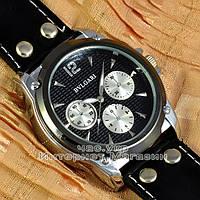Мужские наручные часы BvLgari Quartz All Black Булгари кварцевые качественная реплика, фото 1