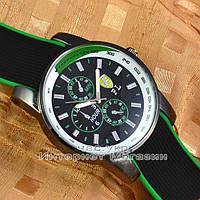 Мужские наручные часы Ferrari Quartz Ruber Tachymeter Green кварцевые модный стиль качество люкс реплика