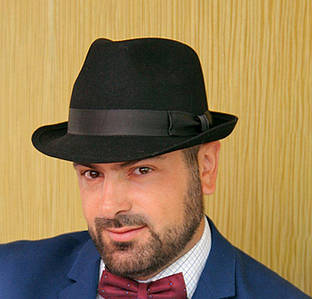 210-2 Мужская фетровая шляпа Хелен Лайн