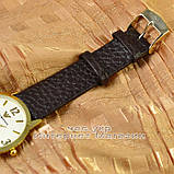 Мужские наручные часы Emporio Armani Quartz Data Gold White с календарем кварцевые класический стиль реплика, фото 3