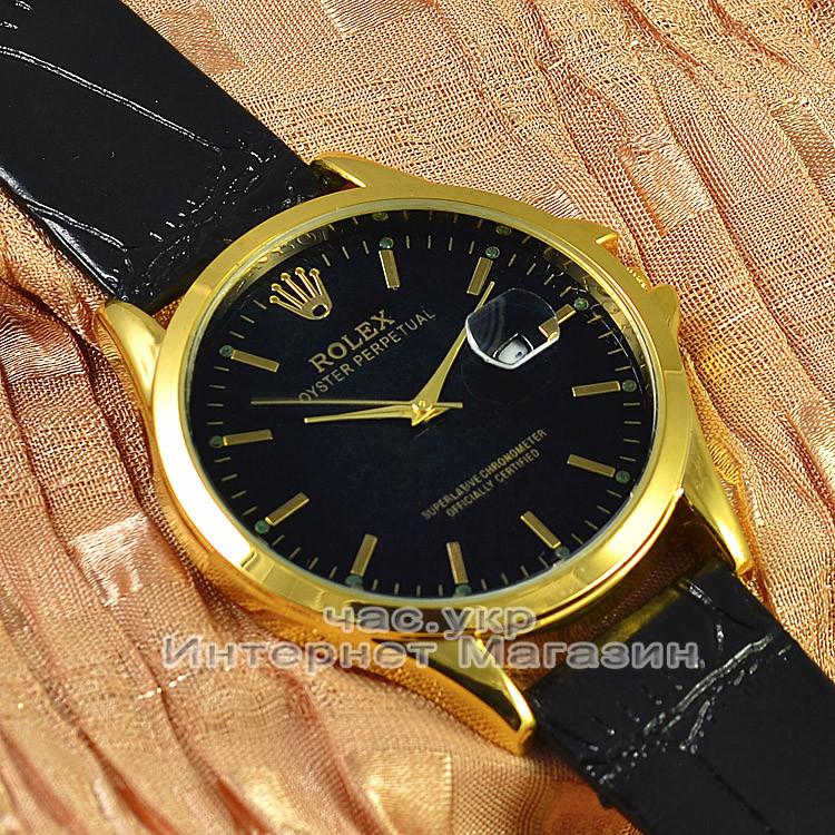 Мужские наручные часы Rolex Oyster Perpetual Calendar с календарем кварцевыя кожа Япония реплика