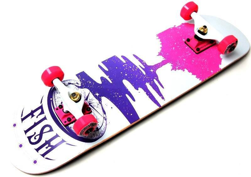 "СкейтБорд деревянный Fish Skateboard ""Tree"""
