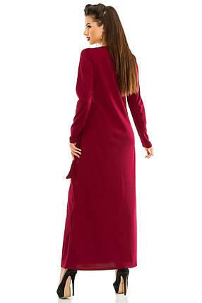 Платье женское бордо, фото 2