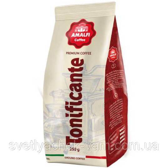 Кофе молотый Amalfi Coffee Tonificante 50% бразильской арабики и 50% робусты, упаковка 250 г
