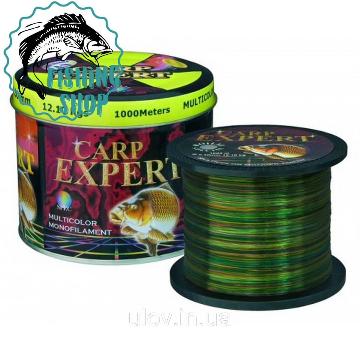 Леска рыболовная Carp Expert Multicolor 1000m 0.35