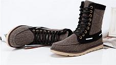 Стильные джинсовые высокие ботинки\кеды, фото 3