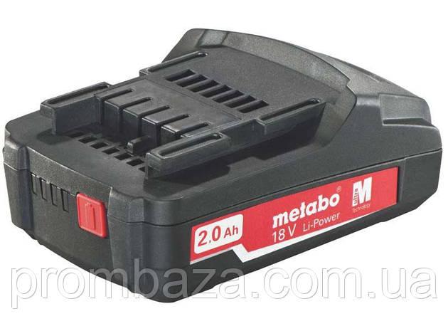 Аккумуляторная батарея Metabo Li-Power 18 V, 2.0 Ач, фото 2