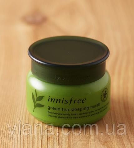 Увлажняющая антиоксидантная ночная маскаInnisfree Green Tea Sleeping Pack 80 мл