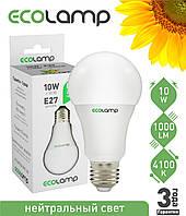 LED лампа ECOLAMP A60-10W-E27-1000lm-4100K