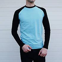 Мужская тонкая кофта лонгслив с длинным рукавом, фото 2
