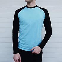 Мужская тонкая кофта лонгслив с длинным рукавом, фото 3