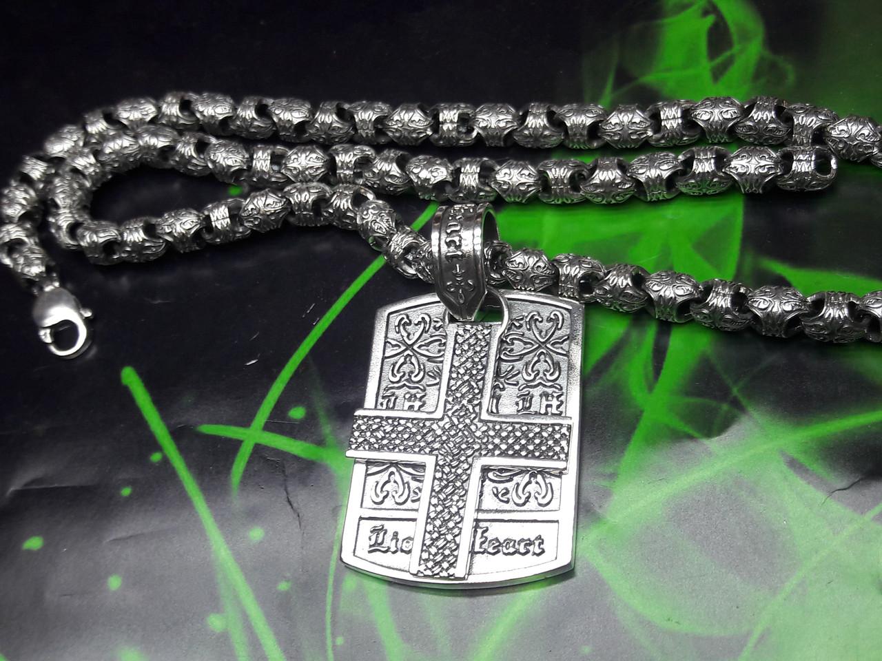 Серебряная цепочка и жетон