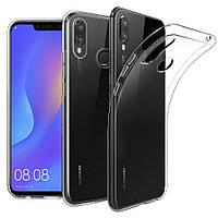 Прозрачный Чехол Huawei P Smart Plus (ультратонкий силиконовый) (Хуавей П Р Смарт Плюс)
