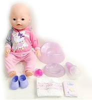 Кукла-пупс BB 8020-456 интерактивная, реплика, 9 функций, 42 см, плачет, можно купать и кормить