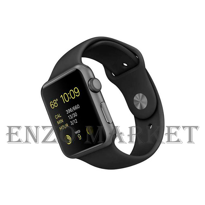 Watch Apple Watch Series 3 38mm GPS Space Gray Aluminum Case with Black Sport Band (MQKV2)