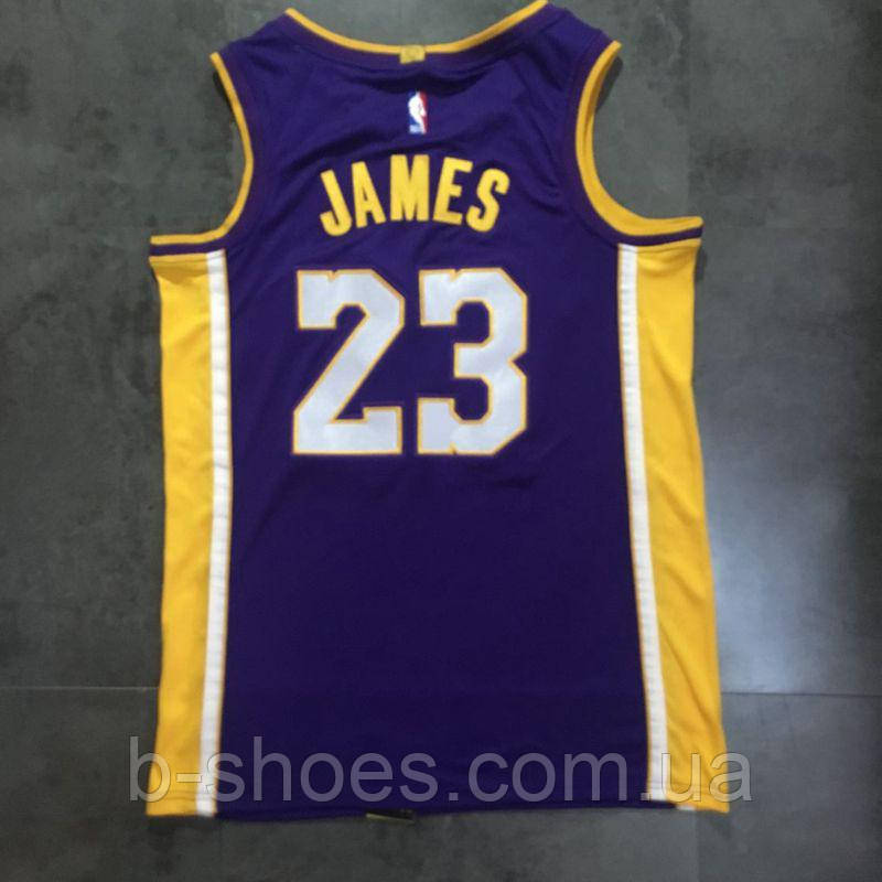 8f045af2 Баскетбольная майка Los Angeles Lakers (LeBron James) Purple купить ...