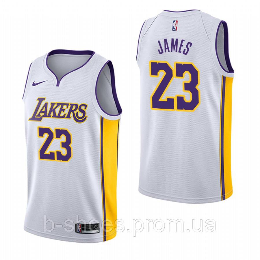 5a127e1e Баскетбольная майка Los Angeles Lakers (LeBron James) White купить в ...