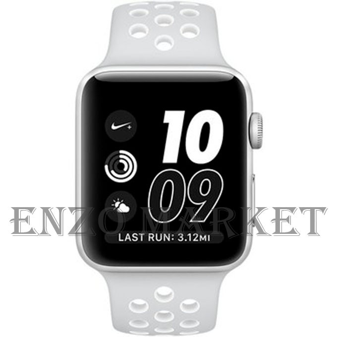 Apple Watch Nike+42mm Silver Aluminum Case with Pure Platinum/White Nike Sport Band (MQ192)