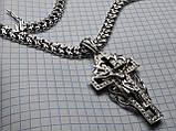 Срібний ланцюг з хрестом Рамзес, фото 5