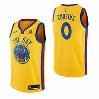 Баскетбольная майка Golden State Warriors (DeMarcus Cousins) Yellow