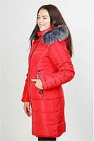 Модная  женская куртка пуховик  с капюшоном (44-50/52), доставка по Украине