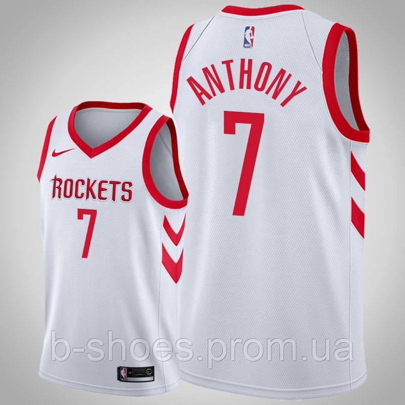 Баскетбольная майка Houston Rockets (Carmelo Anthony) White