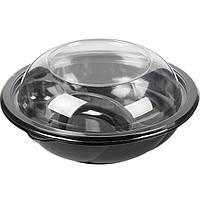 Контейнер круглый черный (плотный) спч-190-1000, 194*65мм, 1000мл