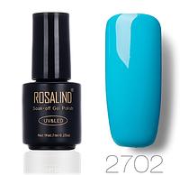 Гель-лак глянцевый бирюзово-голубой Rosalind 7 мл RA2702
