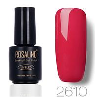 Гель-лак глянцевый нейтральный красный Rosalind 7 мл RA2610