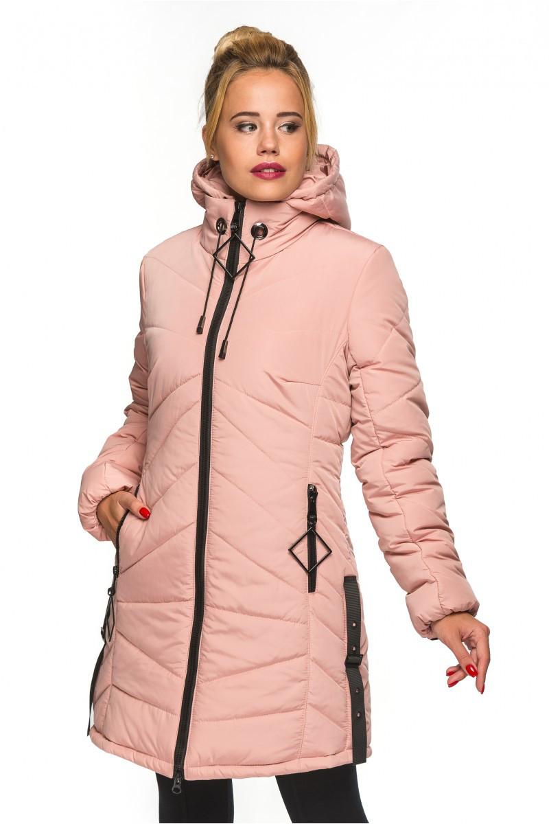 c14fe1919278 Женская куртка АМИНА пудра ТМ Модная Зона 44-52 размеры - Интернет-магазин  одежды
