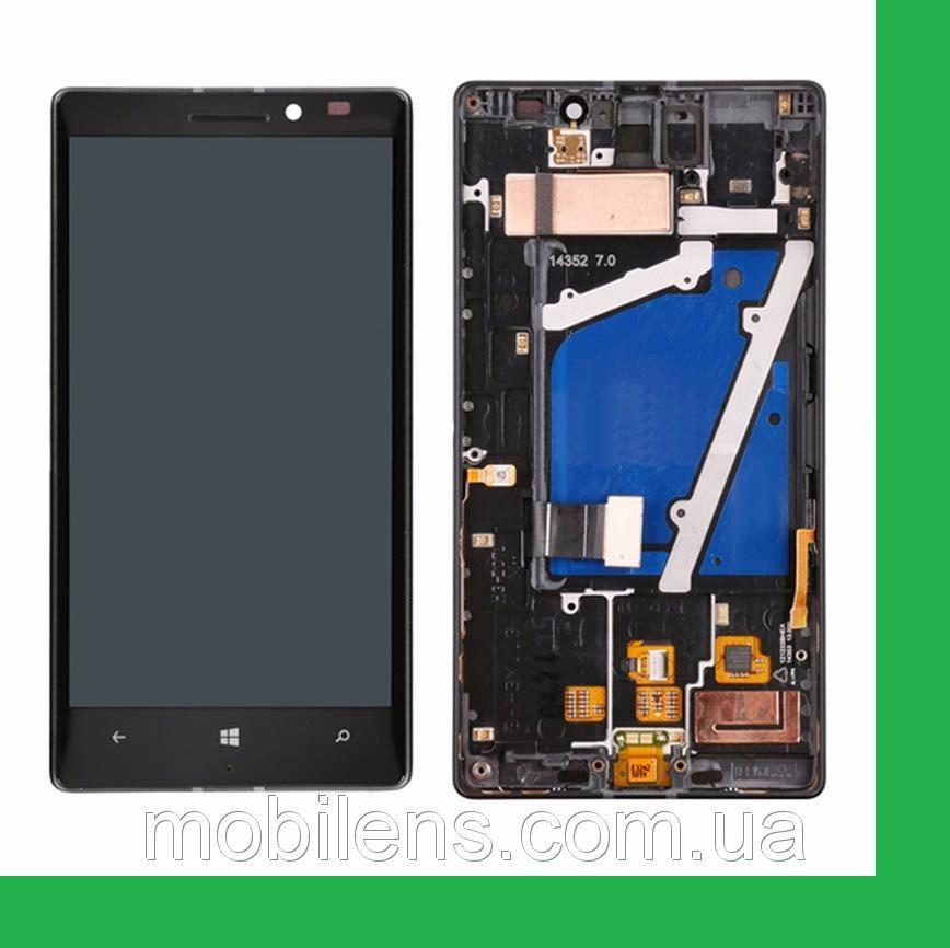 Nokia 930 Lumia, RM-1045 Дисплей+тачскрин(сенсор) в рамке черный
