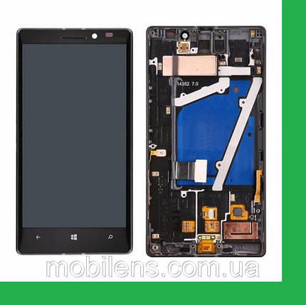 Nokia 930 Lumia, RM-1045 Дисплей+тачскрин(сенсор) в рамке черный, фото 2