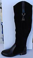 Женские зимние сапоги на низком ходу, зимние сапоги на худую ногу от производителя модель МВ47С