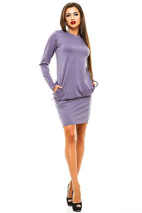 Платье женское сиреневое, фото 2