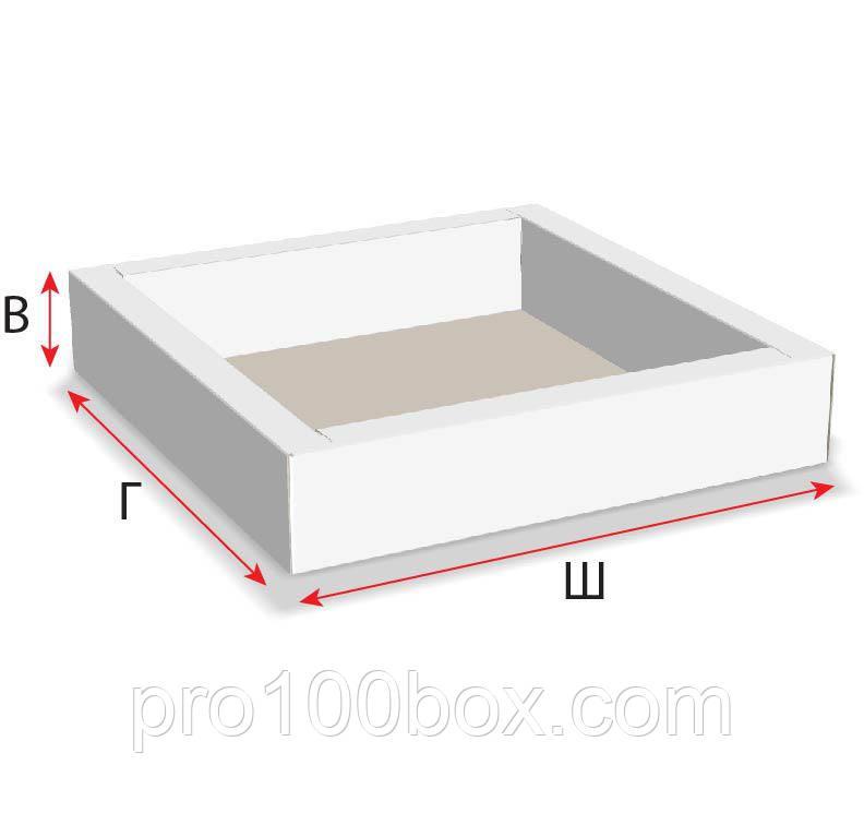 коробка с двойными бортами