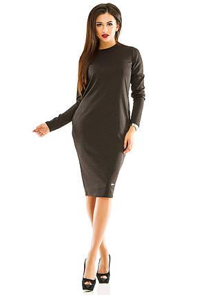 Платье женское темно-серое, фото 2