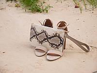 Клатч из кожи питона Маленькая сумка
