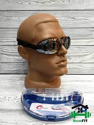 Очки для плавания, в комплекте беруши LEACCO