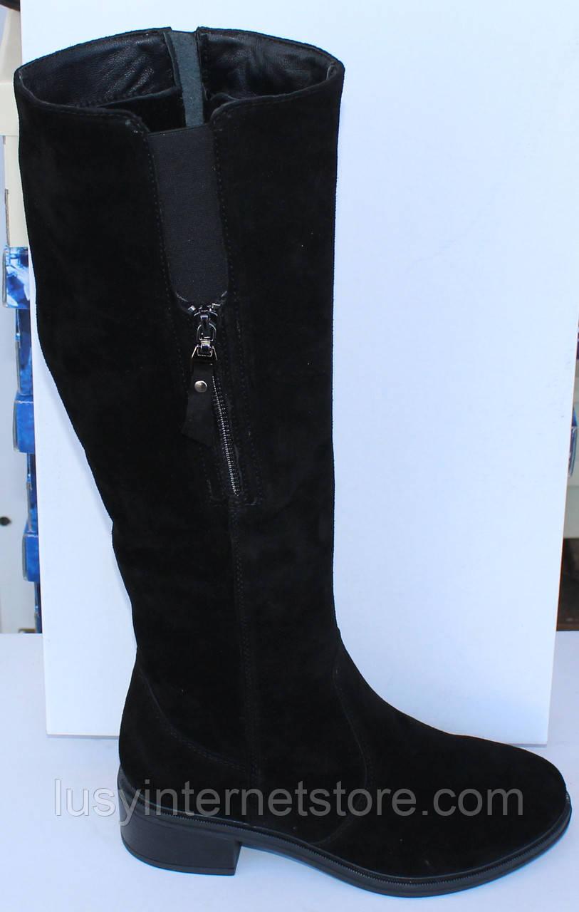 3ad0c3d9e Женские замшевые зимние сапоги на низком ходу, зимние сапоги на худую ногу  от производителя модель МВ67С